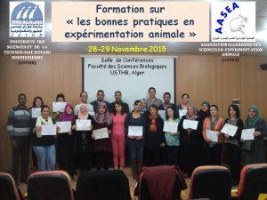 1 ère Formation sur les bonnes pratiques en expérimentation animale les 28 29 Novembre 2015 FSB USTHB Alger