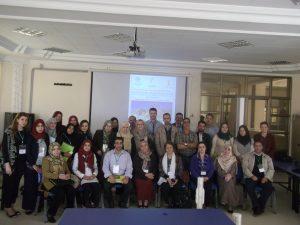 Photo de Groupe : Conférenciers et participants (Lieu : Bibliothèque centrale, Université de M'Sila